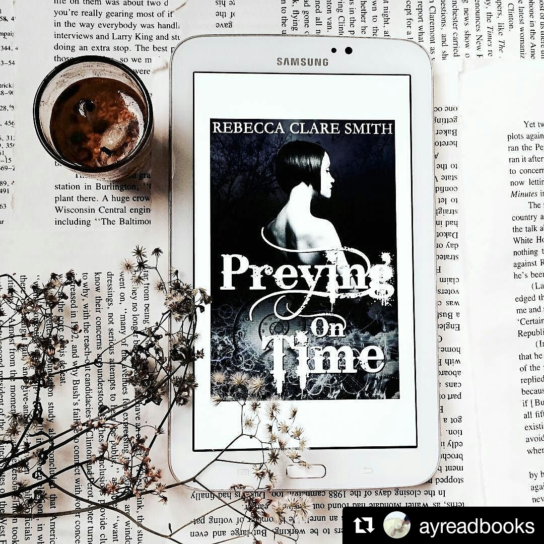 A bookstagram of Preying On Time by the lovely @ayreadbooks