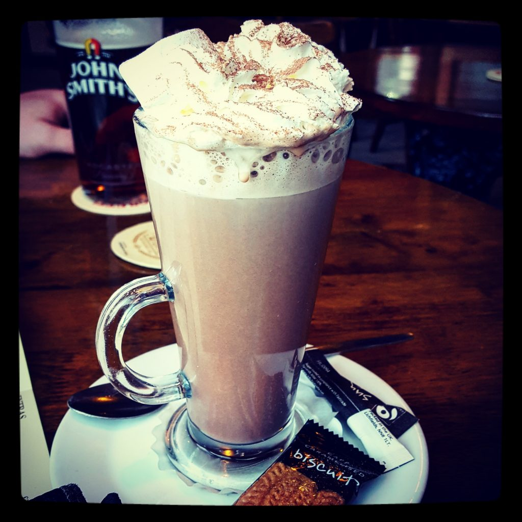 This really excellent hot chocolate definitely helped with my cold!