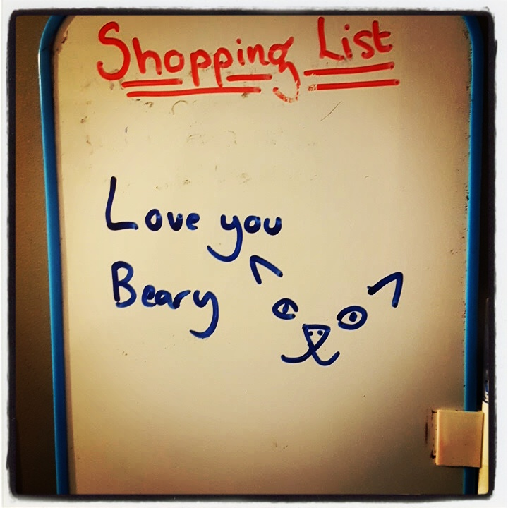 Somebody defaced my shopping list in the best way.