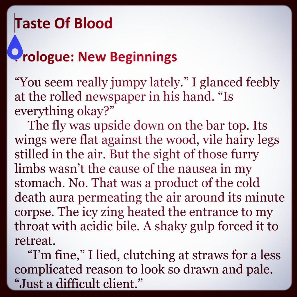 An early excerpt of Taste Of Blood